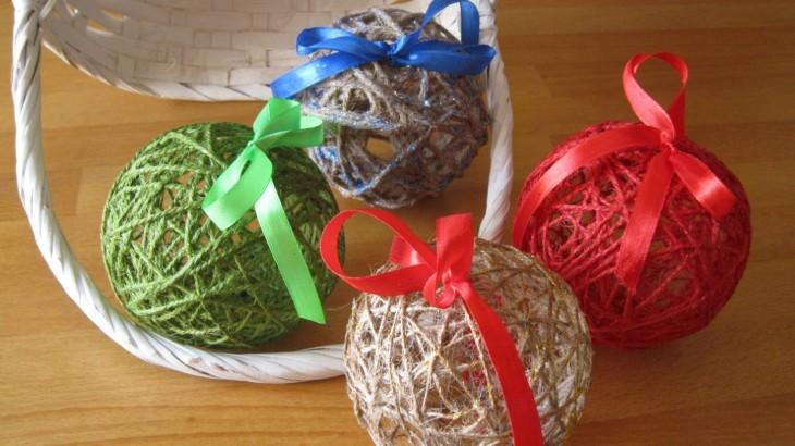 Lavoretti di natale facili con lo spago blog borgione for Lavoretti natalizi semplici